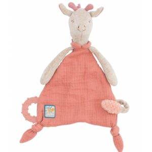 Moulin Roty Sous Mon Baobab Giraffe Comforter With Pacifier Holder