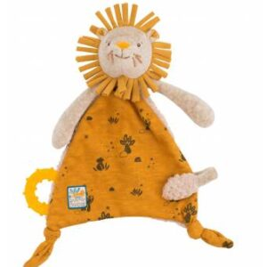 Moulin Roty Sous Mon Baobab Lion Comforter With Pacifier Holder