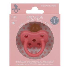 Hevea Pacifier Orthodontic Coral