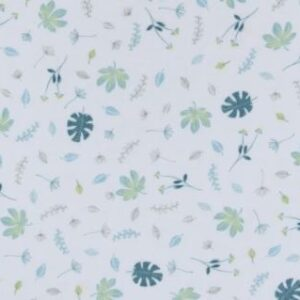 Living Textiles Organic Muslin Change Pad Cover - Banana Leaf