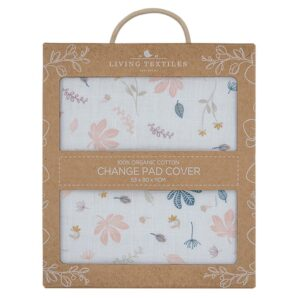 Living Textiles Organic Muslin Change Pad Cover - Botanical