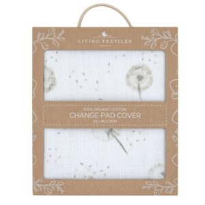 Living Textiles Organic Muslin Change Pad Cover - Dandelion