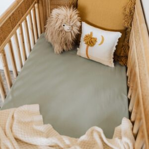 Snuggle Hunny Kids Fitted Cot Sheet Sage