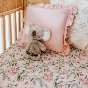 Snuggle Hunny Kids Fitted Cot Sheet Wattle