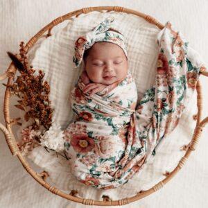 Snuggle Hunny Kids Jersey Wrap & Beanie Set Florence