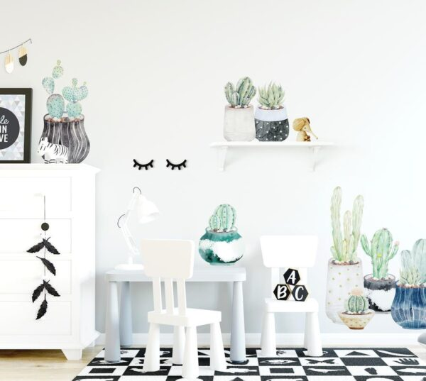 Ginger Monkey Succulent & Cactus Individual Wall Decals