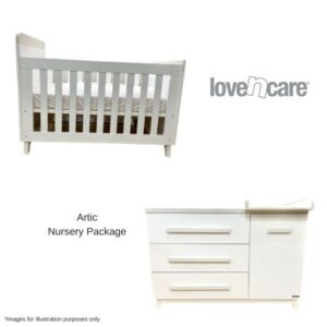 Love n Care Artic Nursery Package with Single Bed Conversion Kit