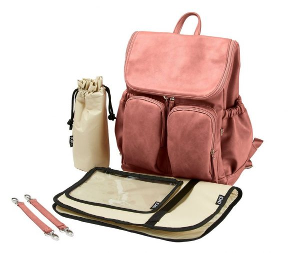 OiOi Backpack Faux Leather Dusty Pink