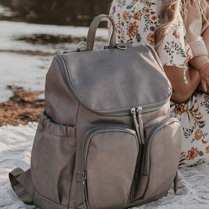 OiOi Backpack Faux Leather Taupe