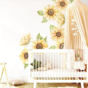 Ginger Monkey Sunflower Wall Decals Full Set