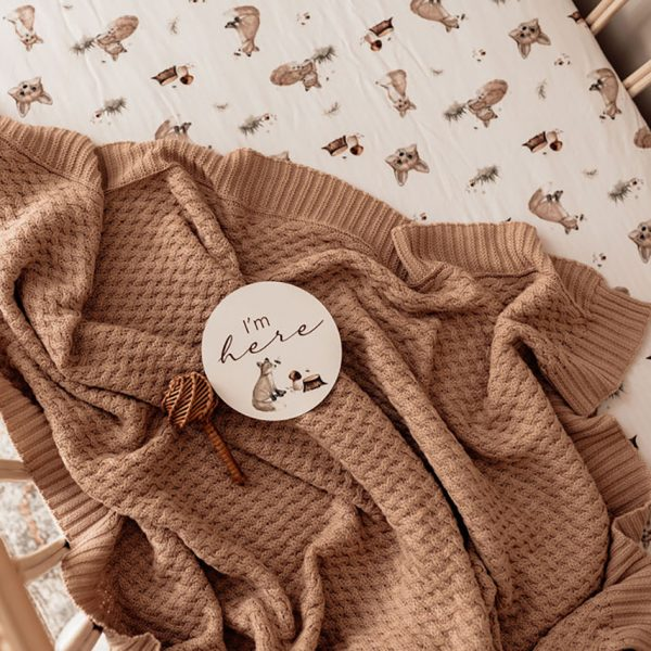 Snuggle Hunny Kids Diamond Knit Baby Blanket Hazelnut