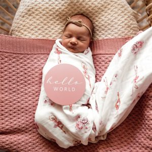 Snuggle Hunny Kids Diamond Knit Baby Blanket Rosa