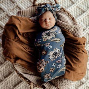 Snuggle Hunny Kids Swaddle Sack & Topknot Set Belle