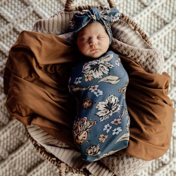 Snuggle Hunny Kids Swaddle Sack & Topknot Set Belle