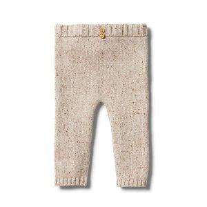 Wilson & Frenchy Knitted Legging Oatmeal Fleck