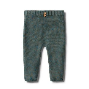 Wilson & Frenchy Knitted Ottoman Legging Dusty Olive Fleck