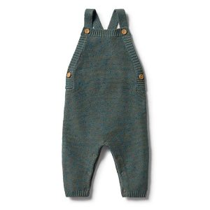 Wilson & Frenchy Knitted Overall Dusty Olive Fleck