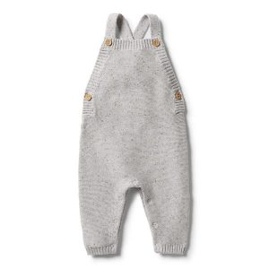 Wilson & Frenchy Knitted Overall Glacier Grey Fleck