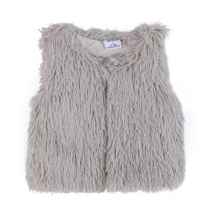 Cracked Soda Abigal Fur Vest