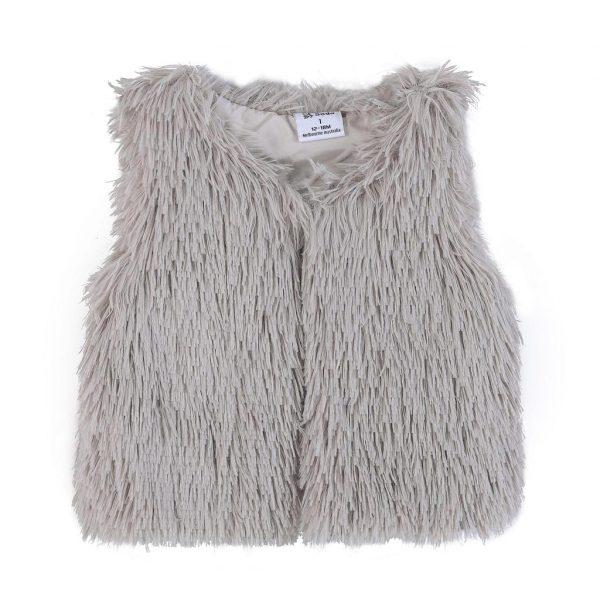 Cracked Soda Abigal Fur Vest