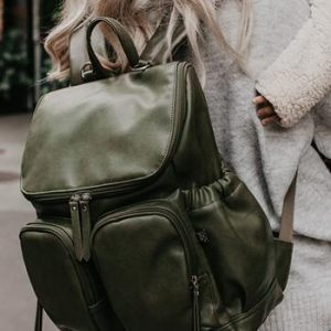 OiOi Backpack Faux Leather Olive