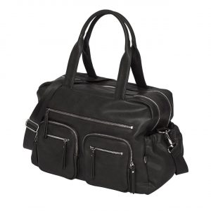 Oioi Faux Leather Carry All Nappy Bag Black