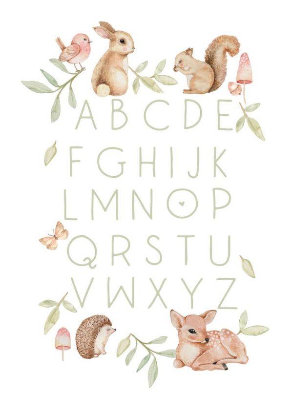 Sailah Lane ABC Poster - Woodlands