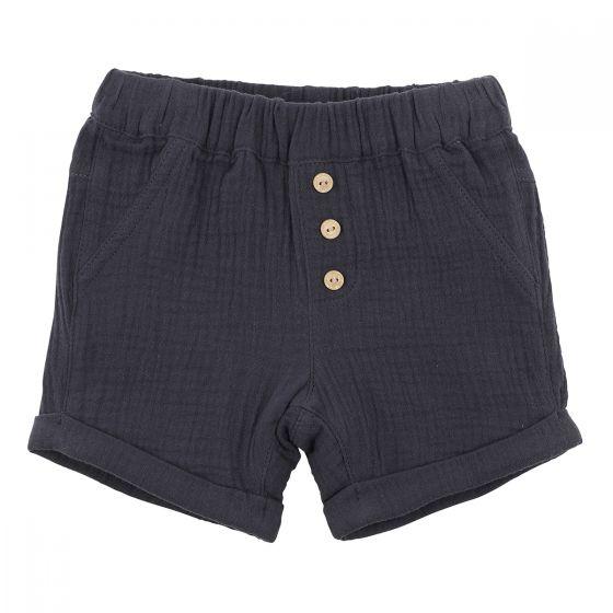 Fox & Finch Charcoal Crinkle Shorts