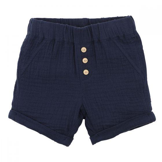 Fox & Finch Navy Crinkle Shorts