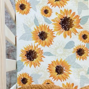 Snuggly Jacks Fitted Cot Sheet Sunflowers