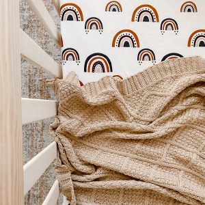 Snuggly Jacks Knitted Blanket Taupe