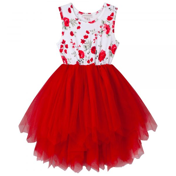 Designer Kidz Penny Luna Tutu Dress Red