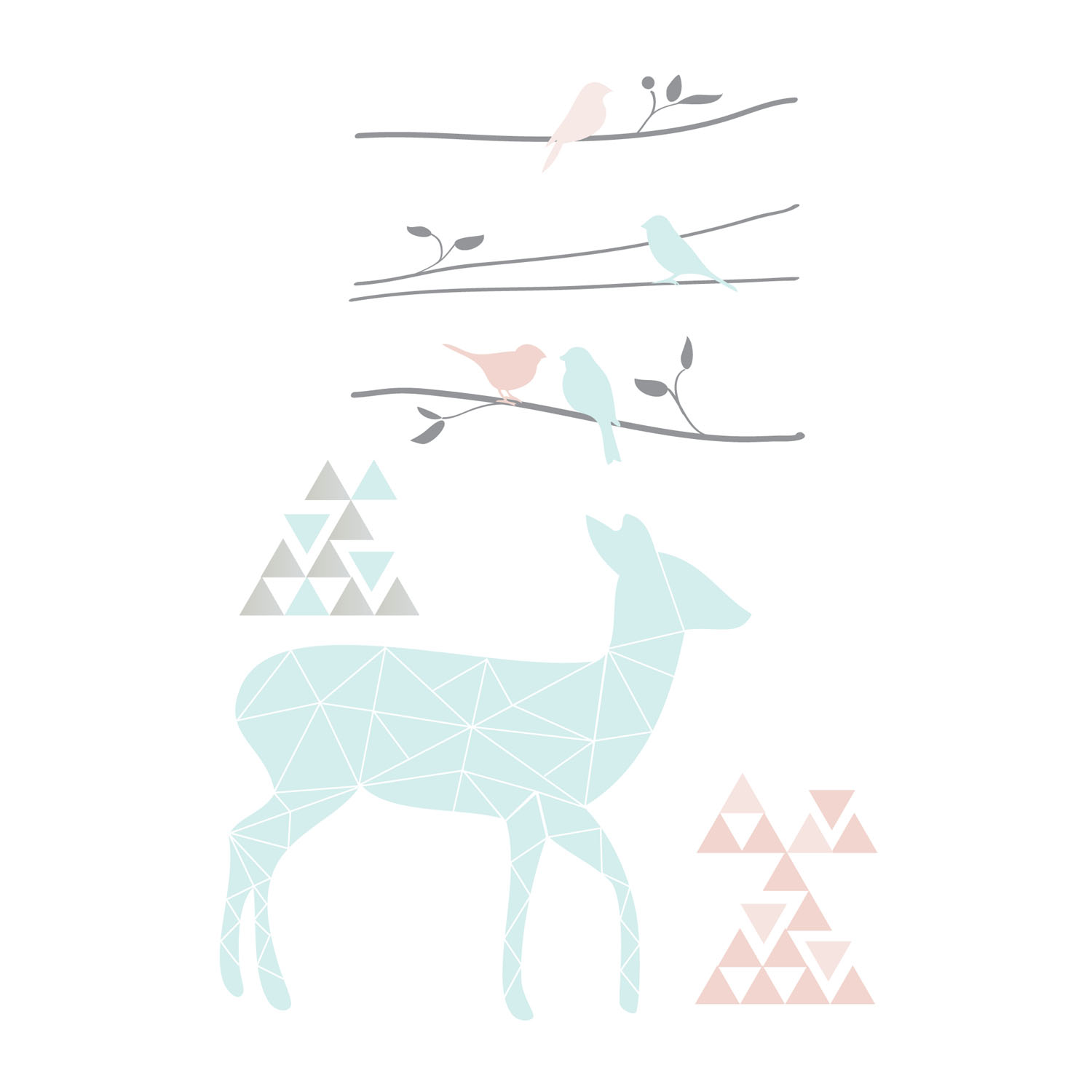 Lolli Living Sparrow Wall Decal Set