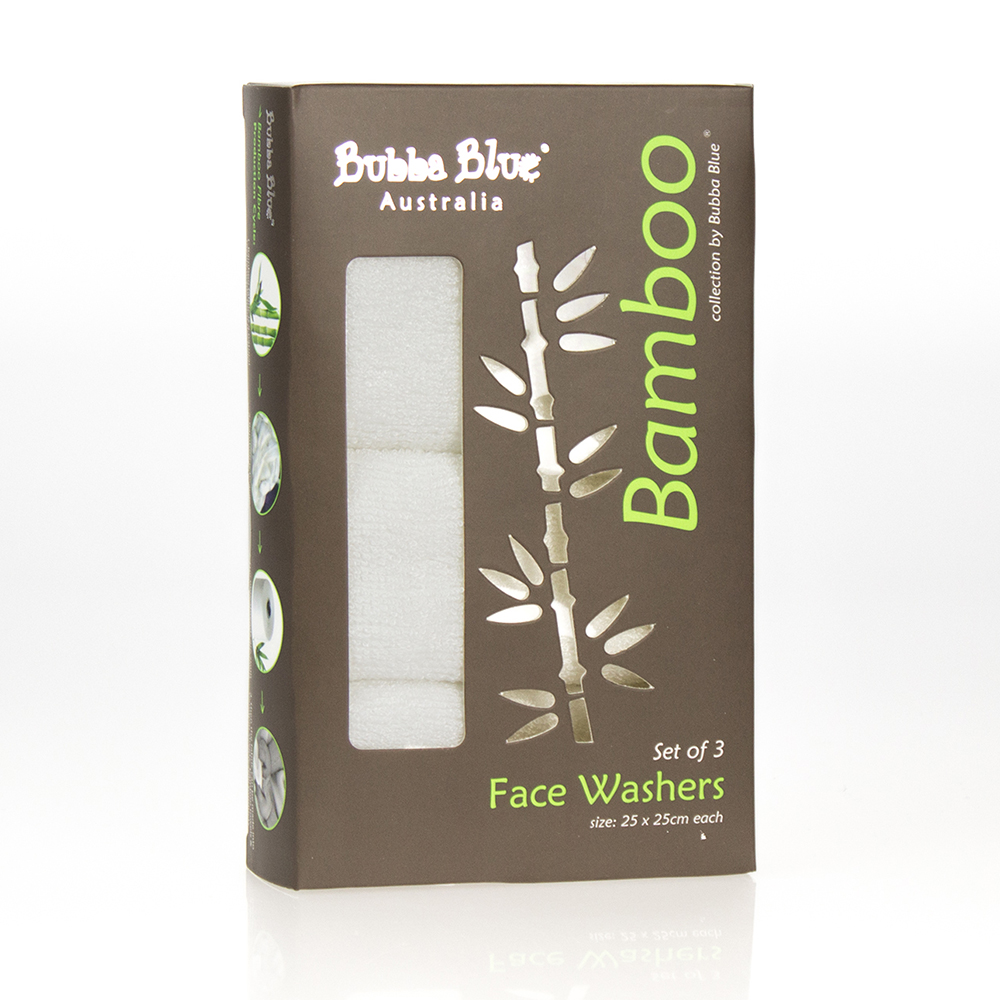 Bubba Blue Bamboo Face Washers